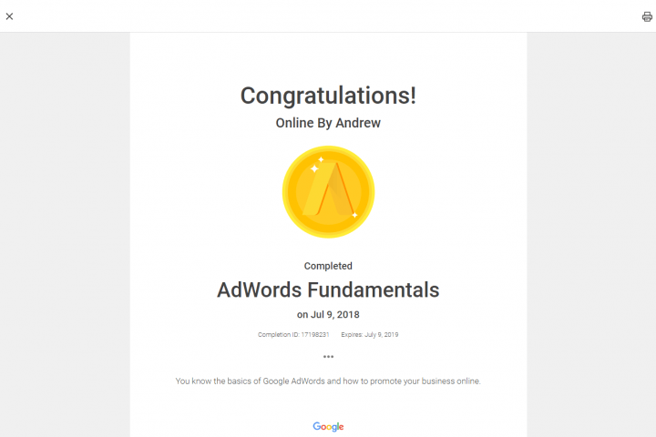 Adwords Fundamentals 1