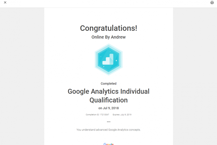 Google Analytic 6